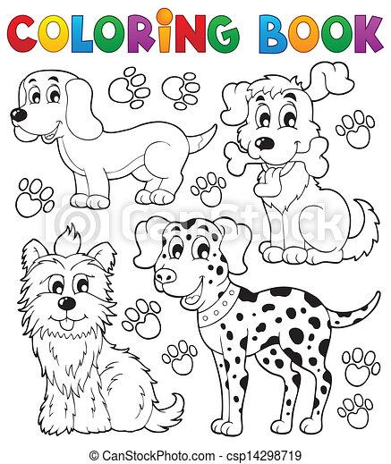 thema, färbung, 5, buch, hund - csp14298719