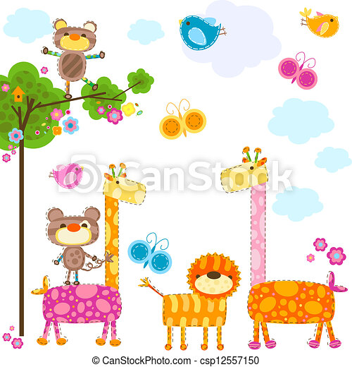 Tiere im Hintergrund - csp12557150
