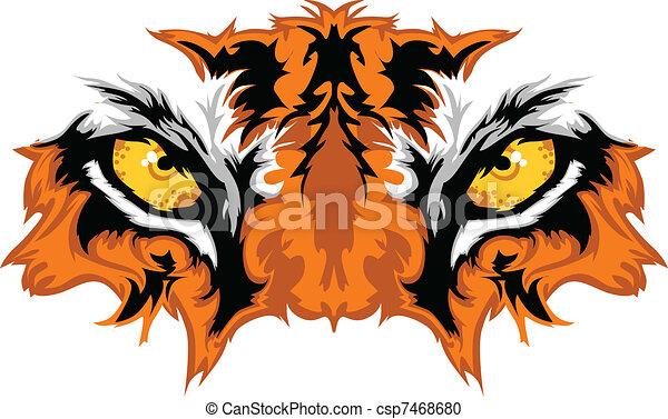 Tigeraugen maskottisch - csp7468680