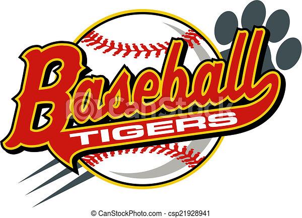 Tiger-Baseball. - csp21928941