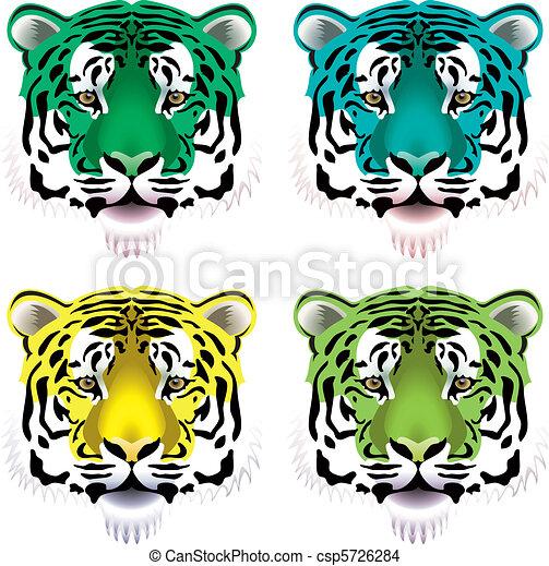 Tigerköpfe - csp5726284