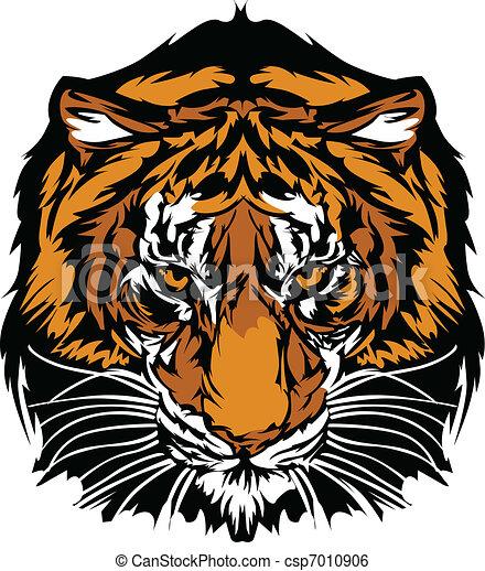Tigerkopf-Maskottchen - csp7010906