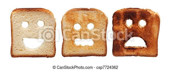 toast, gebrannt, anders, bread - csp7724362