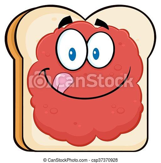Toastbrot mit Marmelade. - csp37370928