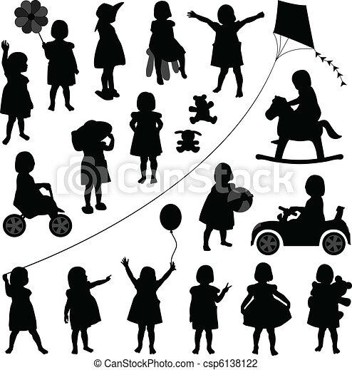 Toddler-Kinder-Baby-Mädchen - csp6138122