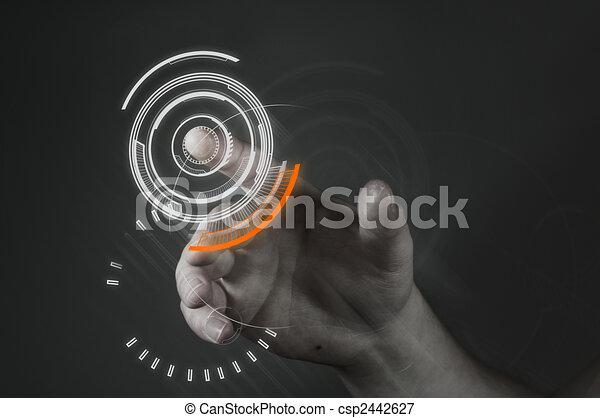 Touchscreen-Technologie. - csp2442627