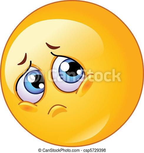 Trauriges Emoticon - csp5729398
