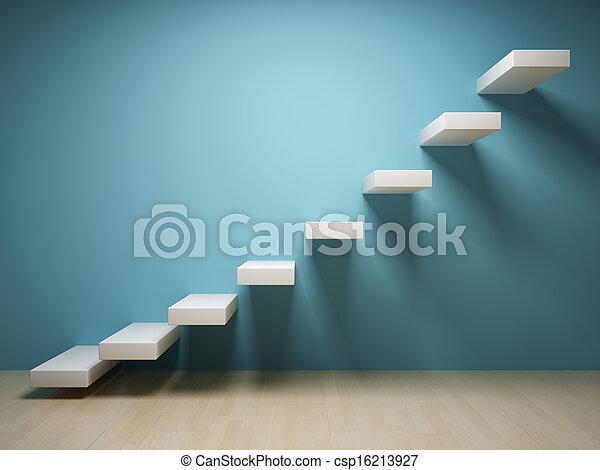 Treppe abfahren - csp16213927