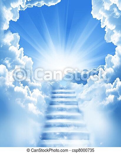 Treppen im Himmel - csp8000735