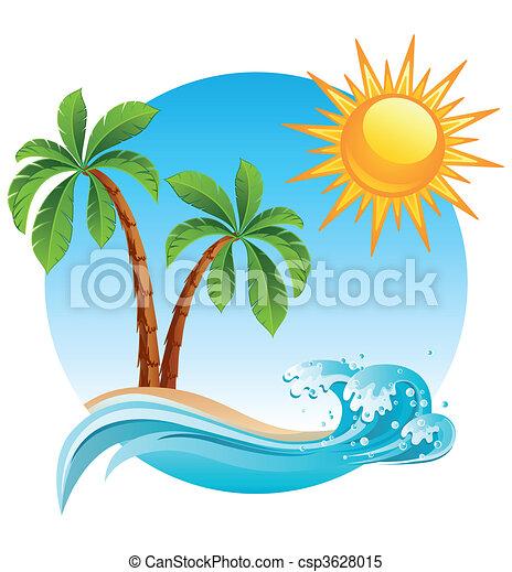 Tropische Insel - csp3628015