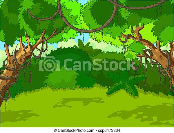 Tropische Waldlandschaft - csp8473384