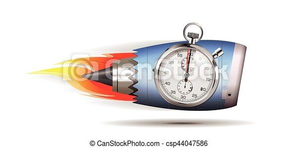 Turbo-Jet-Motor-Konzept. - csp44047586