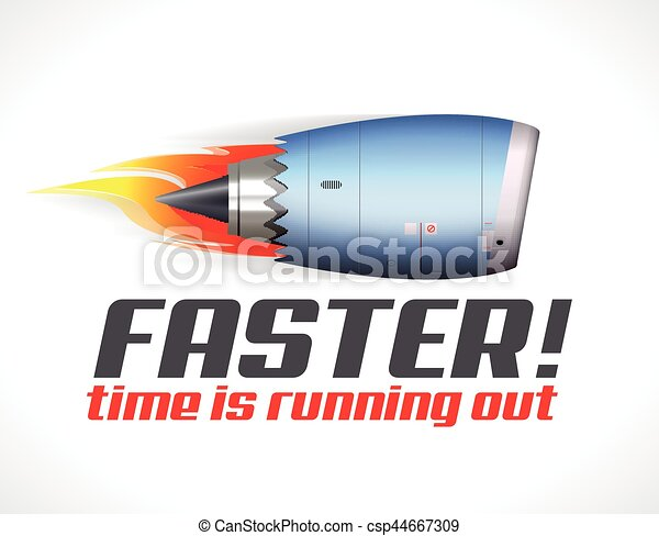 Turbo-Jet-Motor-Konzept. - csp44667309
