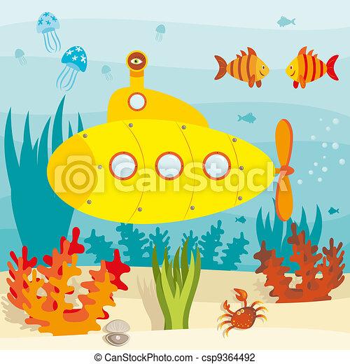 U-Boot im Ozean - csp9364492
