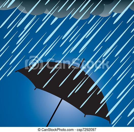 Umbrella Schutz vor starkem Regen. - csp7292097