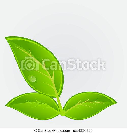 Umwelt-Ikone mit Pflanzen. Vektor Illustration - csp8894690