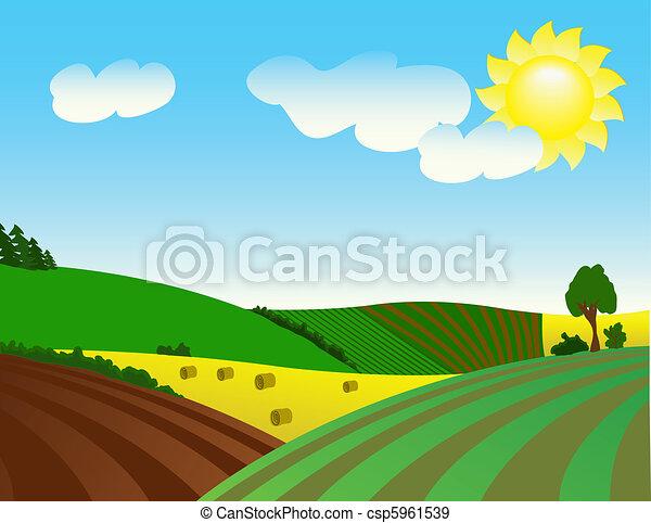Umweltfreundliche ländliche La - csp5961539