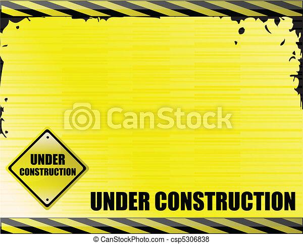Unter dem Bau - csp5306838