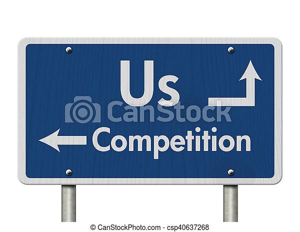 Unterschiede zwischen uns und der Konkurrenz. - csp40637268