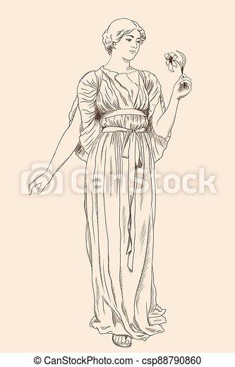 uralt, woman., griechischer  - csp88790860