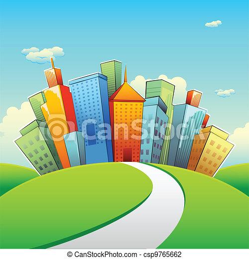 Urban Gebäude. - csp9765662