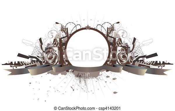 Urban Grunge-Bild - csp4143201