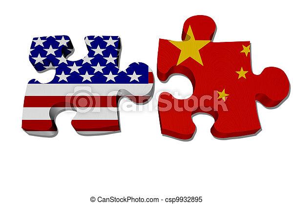 USA arbeiten mit Porzellan - csp9932895