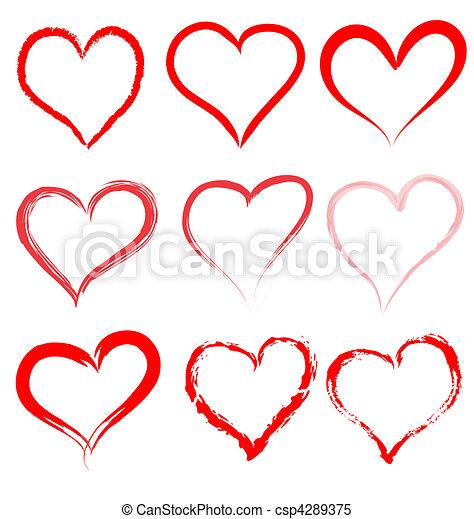 Valentinstag, rote Herzen Vektor, Herz valentine - csp4289375