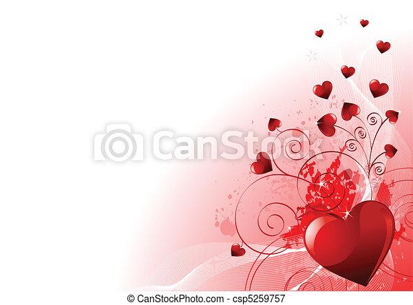 Valentinstags-Hintergrund - csp5259757