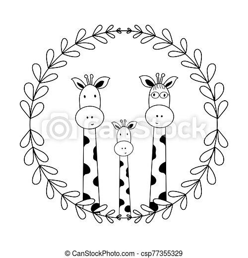 vati, zeichen, ihr, buecher, mutti, isolieren, vektor, gekritzel, reizend, hintergrund, baby, abbildung, karten, kinder, giraffen, parteien, t-shirts, abbildung, weißes, lustiges - csp77355329