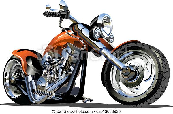 Vector Cartoon Motorrad - csp13683930