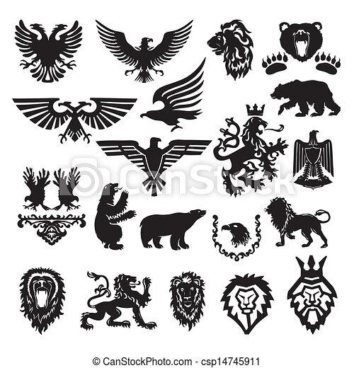 Vector hat das heraldische Symbol stilisiert - csp14745911