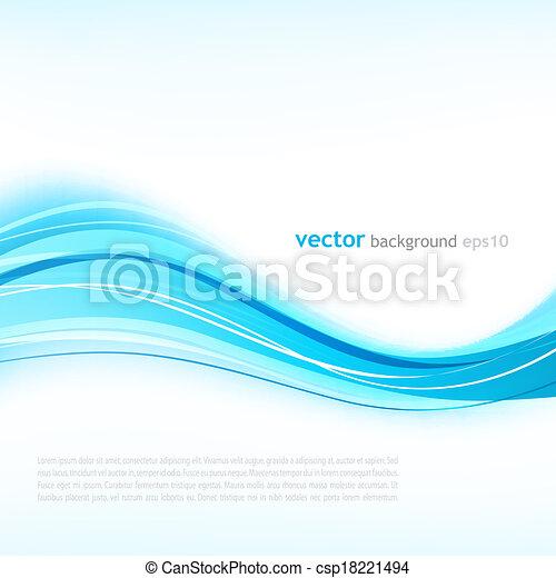 Vector Illustration von blau abstraktem Hintergrund mit gebogenen Linien. - csp18221494