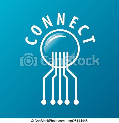Vector Logo-Chip Netzwerkverbindung. - csp28144448