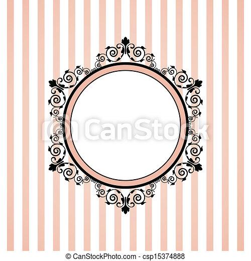 Vector Pink gestreiftes Bild - csp15374888