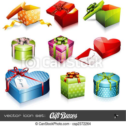 Vector Set: Geschenkeboxen - csp2372264