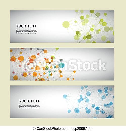 Vector setzt Netzwerkverbindung und DNA eps10. - csp20867114