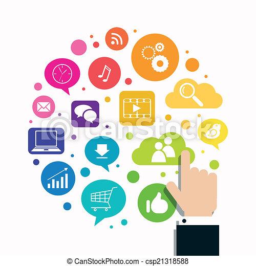 Vector Social Media Konzept. - csp21318588