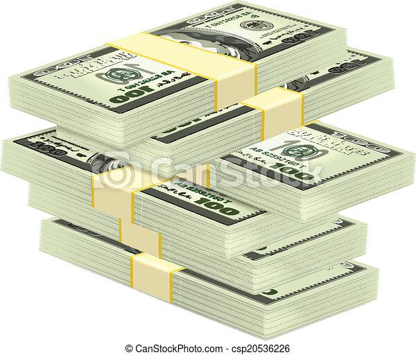 Vector Stapel Geld. - csp20536226