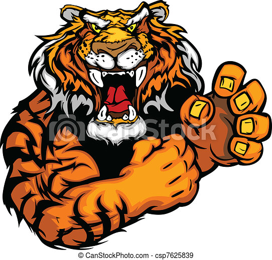 Vectors Bild eines Tigermaskottchens - csp7625839