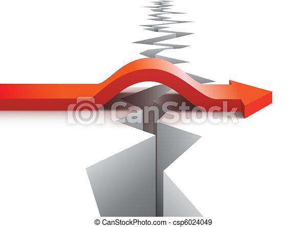 vektor, begriff, risiko, erfolg - csp6024049