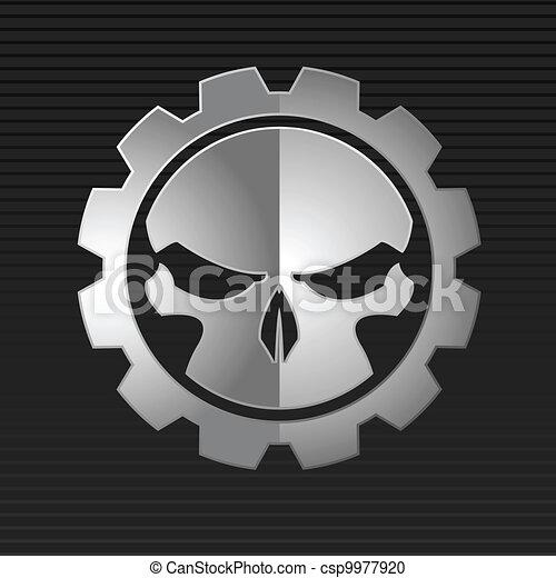 Vektor illustriert den bösen Schädel - csp9977920