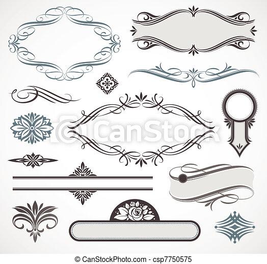 Vektordesign-Elemente &seitige Deko - csp7750575