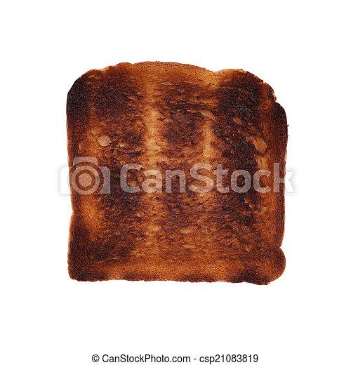 Verbrannter Toast. - csp21083819