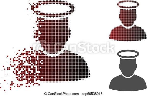Verkleinertes Pixel-Halbton-Silber - csp60538918