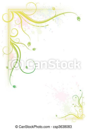 Verschütten farbenfrohen Blumenrahmen - csp3638083