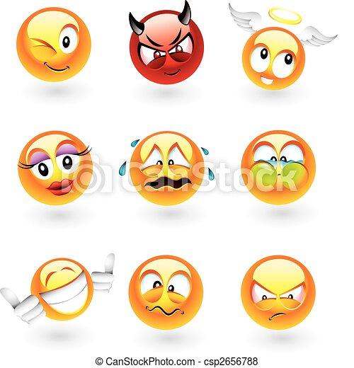 Verschiedene Emoticons - csp2656788