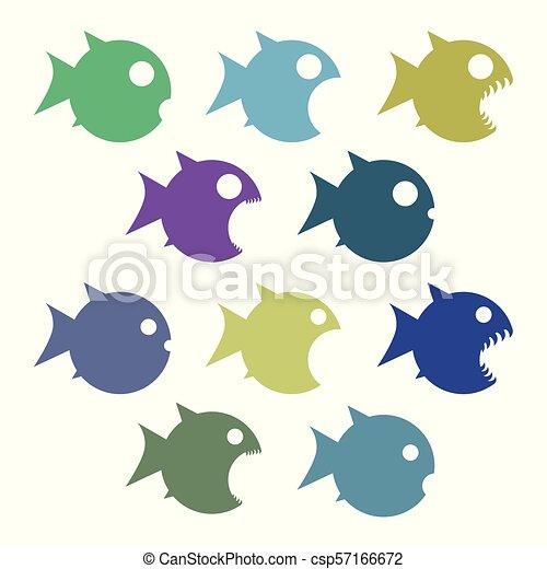 Verschiedene Fische. - csp57166672