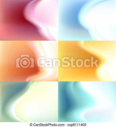 Verschwommener Hintergrund, Wasserfarbe - csp8111403