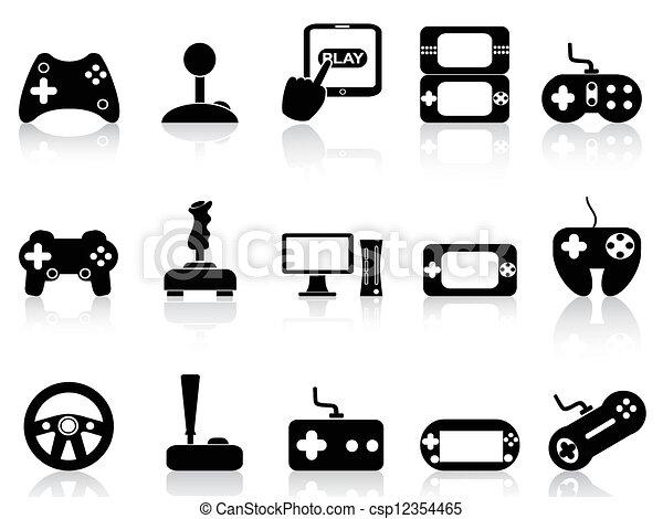 Videospiel und Joystick-Ikonen - csp12354465